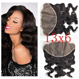 13x6 Brazilian Virgin Human Hair Lace Frontal Closure With Baby Hair Unprocessed Virgin Body Wave Full Frontal Lace Closure G-EASY