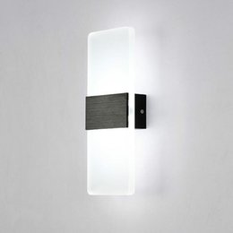 Wholesale New LED Wall Lamp W Simple bedroom bedside lighting Restaurant Hotel study room wall light