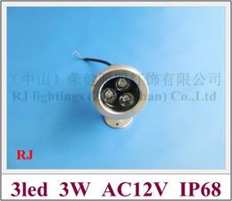 high power 3W LED underwater light lamp LED swimming pool light fountain light AC12V 3W IP68 free shipping