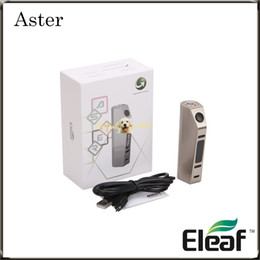 Wholesale Authentic Eleaf Aster w TC Mod with VW Bypass Smart TC Ni TC Ti TCR Mode Powered by Battery Eleaf Aster Mod Original