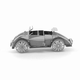 Wholesale 3D Puzzle Metal DIY Assembled Beetle Car Old Fashion Cars Model Leisure Handwork Best Gift Present For Children Kids
