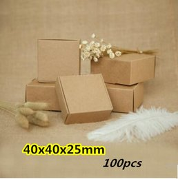 40x40x25mm 100pcs New US imports of kraft paper, gift boxes, linerboard cases, candy boxes and other packaging