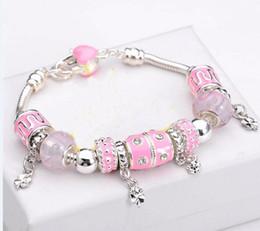 Wholesale new fashion jewelry Fashion Jewelry Sterling Silver charm Bracelets Bangles for women European Beads bracelet