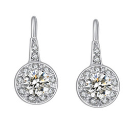 earrings for women Fashion Brief Zircon & Rhinestone Platinum Plated Drop Earrings Jewelry Wholesale Drop Shipping TER033