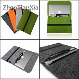Wholesale Felt Sleeve Laptop Notebook Carry Case Cover Bag For Apple Macbook Pro Air quot nich For Macbook quot quot For Macbook