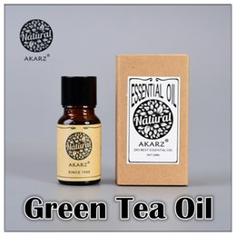 Wholesale AKZRZ Famous Brand Pure Natural Aromatherapy Green Tea Essential Oil Slimming Radiation Protection Against Bad Breath Refreshing Y099