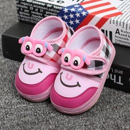 Wholesale 2016 News Cute cartoon Baby Newborn Shoes Anti Slip Kids Shoes Cartoon Prewalker Soft bottom anti slip First Walkers Z L259