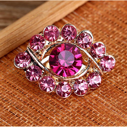 Unique Eye Shape Brooches For Women's Coats Rhinestone Brooch Pins Muslim Style Scarf Clip Corsage Ornament