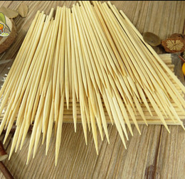 Wholesale Wholeale mm cm Bamboo Wooden BBQ Party Skewers Disposable Sticks BBQ tools natural BAMBOO SKEWERS Barbecue Stickers H210298