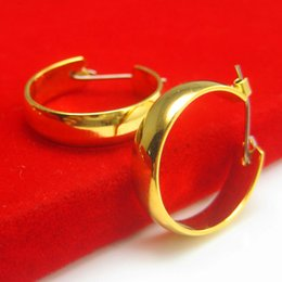 For a long time does not fade off 999 gold gold gold gold earrings imitation women men ear ring traditional Retro