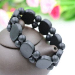 Wholesale High Quality Black Sinbin bian stone Bianchi stone Carve Natural Black Stone Bracelets Balck Jade For Men and Women jade jewelry