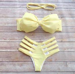 Hot floral push up Brazilian Backless biqiuni Bandage Beach Swimwear bikini sets bathing suit beachwear multi color