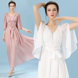 womens summer dresses 2016 dashiki dress robe longue femme ete long dress Greece godness casual pleated maxi evening party dress