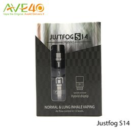 Wholesale Atomizzatore JUSTFOG S14 HYBRID Clearomizer with Two types of vaping mode and Airflow control in levels bottom coil Japanese Cotton Coil