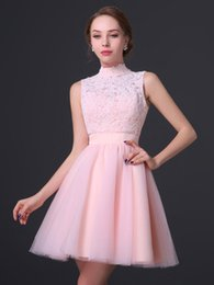 2016 new high-necked jacket Homecoming Dresses prom lace applique mini skirts sexy backless fashion reunions Evening Dress plus size