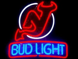Wholesale Bud Light Jersey Devil Neon Sign Custom Handmade Real Glass Tube Store Beer Bar KTV Club Pub Adverisement Display Neon Signs quot X14 quot