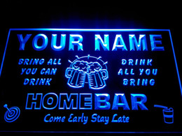 Wholesale DZ057 b Name Personalized Custom Family Home Brew Mug Cheers Bar Beer Neon Sign