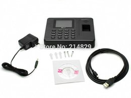 Wholesale Realand A F260 quot TFT Fingerprint Time Attendance Access Control Record Employee Check