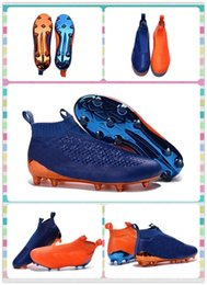 Wholesale New New Style Training Sneakers Men s ACE PureControl FG Blue and Orange boots Shoes Football Boots Sneakers Running Shoes
