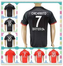 Wholesale New Product Thai Soccer Jersey Bayer Leverkusen Aranguiz Bender Calhanoglu CHICHARITO Black Red Away Home Jerseys