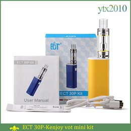 Wholesale ECT P e cigarette Box Mod Starter Kit et p ml kenjoy vot mini Tank ohm mah electronic cigarette mod et30p