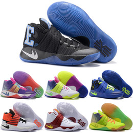 Drop Shipping Wholesale Basketball Shoes Men Cheap Kyrie 2 Sneakers High Quality 2016 New Kyrie Lrving Sports Shoes For Sale Size 7-12