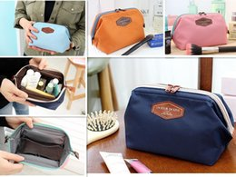 Wholesale Best Selling Womens Makeup Cosmetic Cases Fashion Travel Bag Solid Colours Organizer Bag For Lady Small Zipper Cosmetic Bags