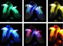 Acheter en ligne Discothèque clignotant conduit-2016 LED lumineux Lacet La 3ème génération Olive Party Disco clignotant Lacet Light Up Lacets