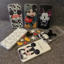 Wholesale NEW Hot animated cartoon phone set for iphone s s plus SE Sweetheart Mickey Minnie Mouse Silicone Phone Cover Shell