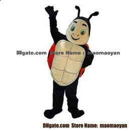Wholesale Ladybug Mascot Costumes Cartoon Character Adult Sz Real Picture