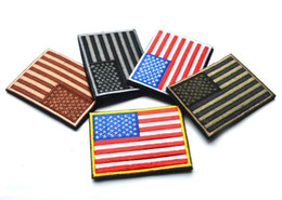 3.15 inch 3D Embroidered Pacth with magic tape Multicolour American Flag Outdoor Army Armband patch Sew On Patch spersonality GPF-222