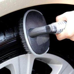 Wholesale Automotive steel rim brush wheel brush automobile tires wash tools products Arc tire brush special wheel rims car wash brush T tire brush
