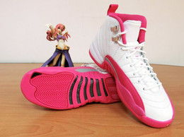 Wholesale With shoes Box High Quality Retro XII GS Valentine s Day Dynamic Pink Women Basketball Sport Trainers Shoes
