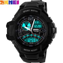 2016 Brand Men fashion Sports Watches analog Digital LED Quartz swim Wristwatches black rubber band