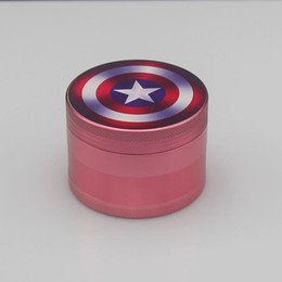 Wholesale New captain Captain America Civil War mm stamp grinder herb grinder hard aluminum alloy parts