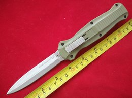 Wholesale Outdoor Gear Green Handle Benchmade BM BK BK Infidel Silver Double Fine Edge Plain Camping Tactical Tools F116L
