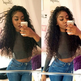 Top Quality Peruvian Kinky Curly Full Lace Wigs Fashion Curly Human Hair Wigs With Free Part On Sale