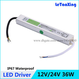 12V 36W LED Driver Power Supply Waterproof Outdoor 24V 36W Transformers Adapter For LED Strip light Lamp 100pcs Free shipping