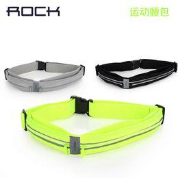 2015Original Rock New Waist bag Casual Waist Pack Sport bag Waterproof Running Bags Purse Mobile Phone Case for IPHONE pocket