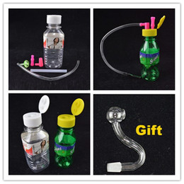 Wholesale Portable Smoking Smart Oil Rig mm joint Smart Stoned Spring Water Mineral Water Bottle inch Mini Plastic Bongs Gift Honey Banger