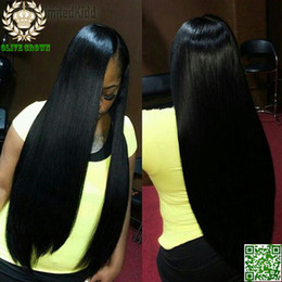 Indian Silky Straight Full Lace Wig Human Hair Long Straight Lace Front Wig Unprocessed Human Hair Gluless Lace Wig AAAAAA