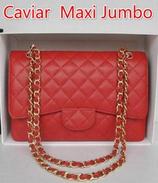 Wholesale 1113 Caviar Bag Classial CM Quilted Chain Apricot Caviar Leather Double Flaps Shoulder Bag Gold Silver Top Real leather
