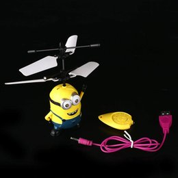 Wholesale Movie Character RC Minions Aircraft Flying Induction Helicopter Kid Toys