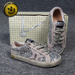 Wholesale 2016 NEW FASHION GGDB GOLDEN GOOSE Children s Casual Shoes BABY flats kids sneakers real leather size