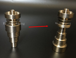 Wholesale High Quality in Titanium Nail mm mm mm with Male Female Domeless Spiral Gr2 Titanium Nails