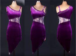 2018 High Quality Latin Dance Dress Rhinestones Women Lady Clothing For Dance Stage Costumes Tassel Dancing Dress For Women Dancewear Dress