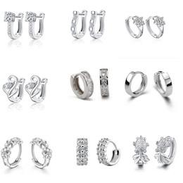 Wholesale New arrival hoop earrings Korean silver women jewelry snow goldfish smooth hoop earrings
