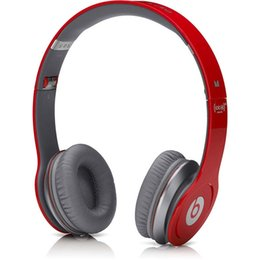Wholesale High Quality Refurbished Beats MONSTER SOLO HD Wired with ControlTalk Color High Definition on ear Headphone dj headset Free Ship