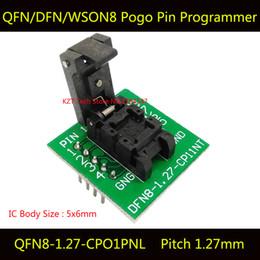 Wholesale QFN8 DFN8 WSON8 Programming Socket Pogo Pin IC Test Adapter QFN8 CPO1PNL Pitch mm Clamshell Size Burn in Socket