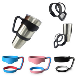 Wholesale Portable Plastic Black Water Bottle Mugs Cup Handle For YETI ozTumbler Rambler Cup Hand Holder Fit Travel Drinkware